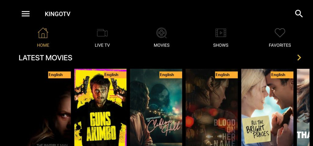 Kingo TV Apk Download